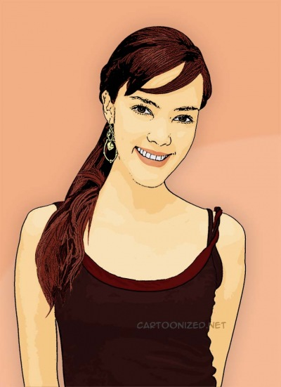 Photo Cartoon of Cathy Sharon