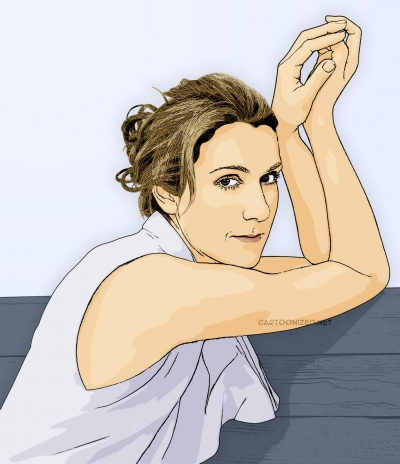 celine dion cartoon photo