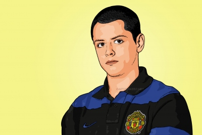 Photo Cartoon of Javier Hernandez