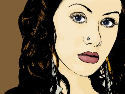 Photo Cartoon of Christina Aguilera
