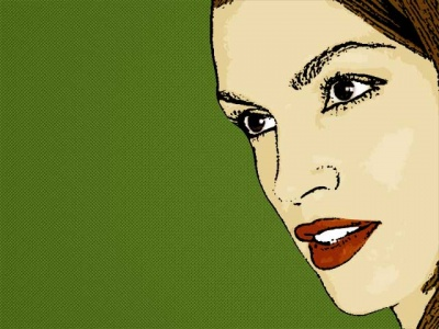 Photo Cartoon of cindy crawford