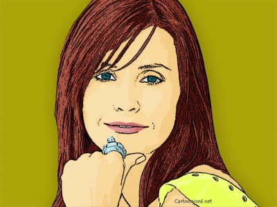 Photo Cartoon of Courteney Cox