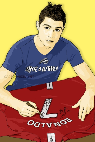 Photo Cartoon of Cristiano Ronaldo