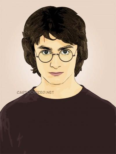 Photo Cartoon of Daniel Radcliffe
