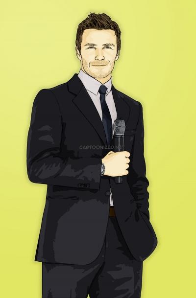 Photo Cartoon of David Beckham