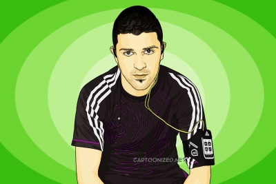 Photo Cartoon of David Villa