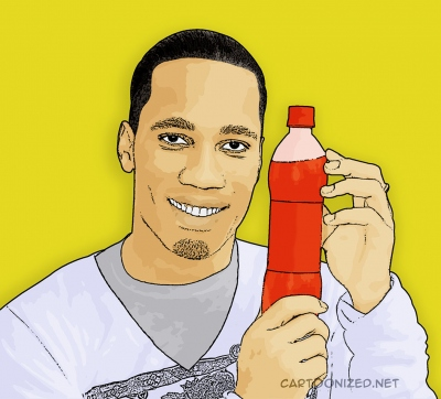 Photo Cartoon of Didier Drogba