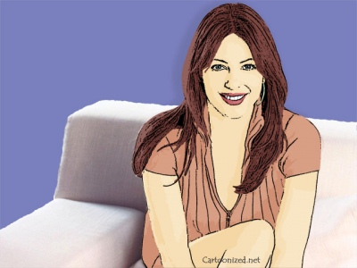 Photo Cartoon of Elizabeth Hurley