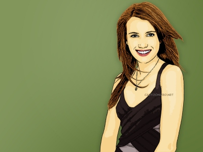 Photo Cartoon of Emma Roberts