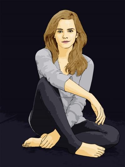 Photo Cartoon of Emma Watson