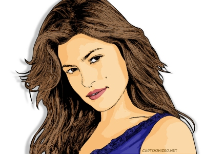 Photo Cartoon of Eva Mendes