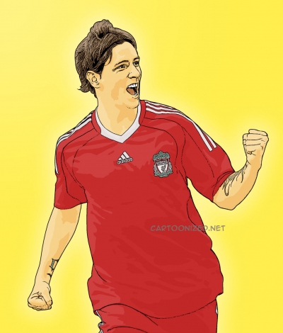 Photo Cartoon of Fernando Torres