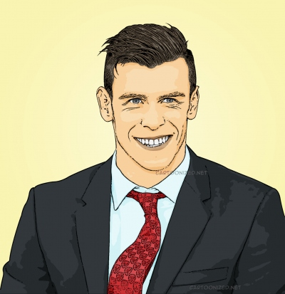 Photo cartoon of Gareth Bale