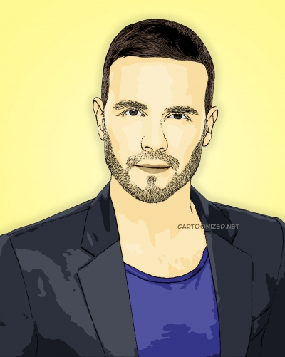 cartoon photo of gary barlow by cartoonized.net