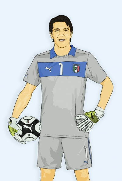cartoon photo of gianluigi buffon by cartoonized.net