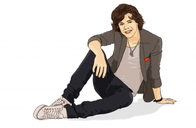 cartoon photo of Harry Styles