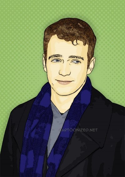 Photo Cartoon of Hayden Christensen