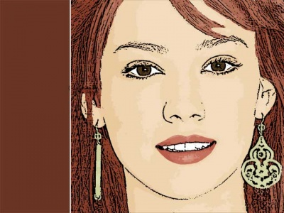 Photo Cartoon of hilary duff