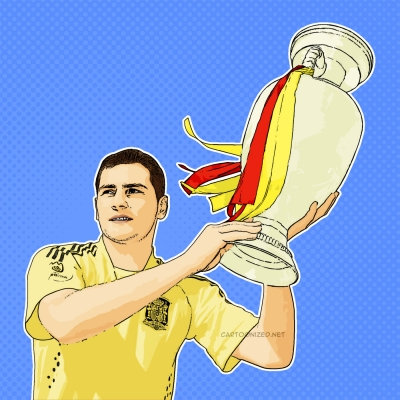 Photo Cartoon of Iker Casillas