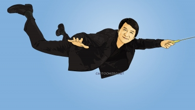 Photo Cartoon of Jackie Chan
