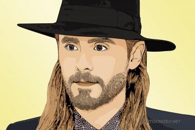 Photo cartoon of Jared Leto