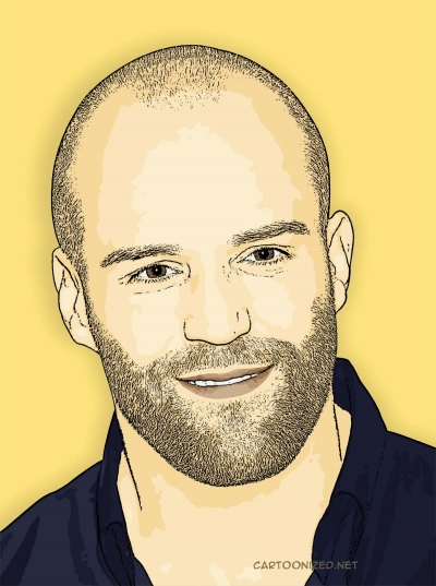 Photo Cartoon of Jason Statham