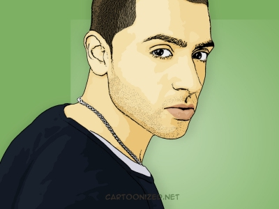 Photo Cartoon of Jay Sean
