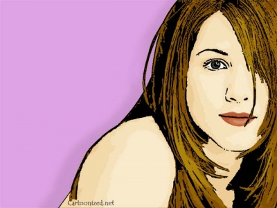 Photo Cartoon of Jennifer Aniston