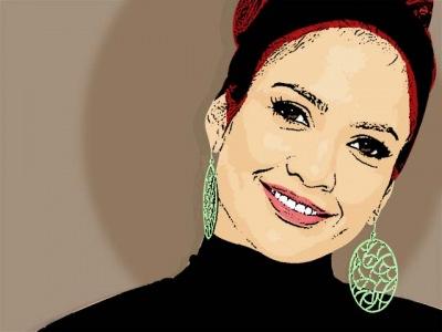 Photo Cartoon of Jennifer Lopez