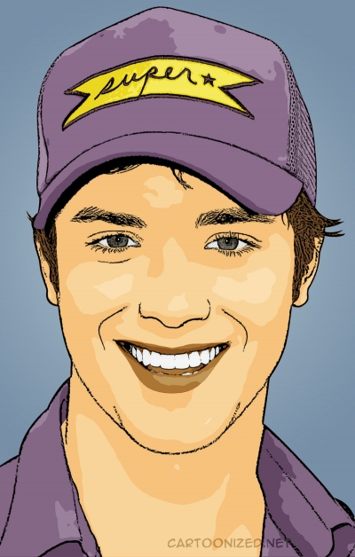 cartoon photo of jeremy sumpter by cartoonized.net