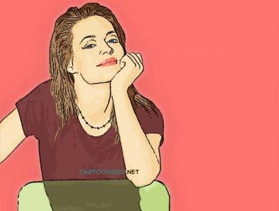 Photo Cartoon of Jeri Ryan