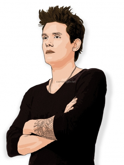 cartoon photo of John Mayer