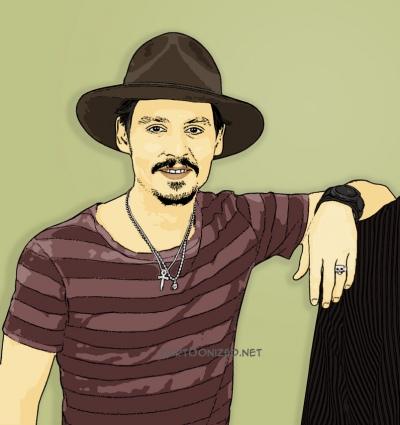 Photo Cartoon of Johnny Depp