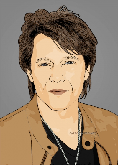 cartoon photo of Jon Bon Jovi