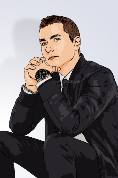 Photo cartoon of Jorge Lorenzo