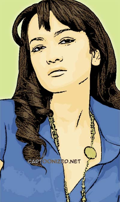 Photo Cartoon of Julia Perez