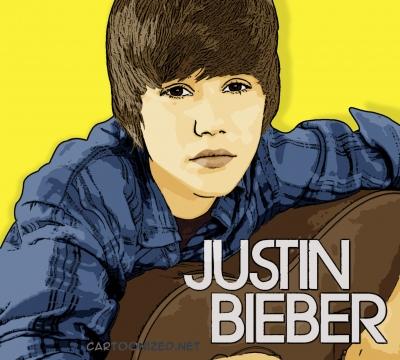 Photo Cartoon of Justin Bieber