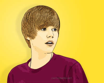 Photo Cartoon of Justin Bieber