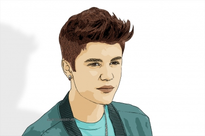 cartoon photo of justin bieber