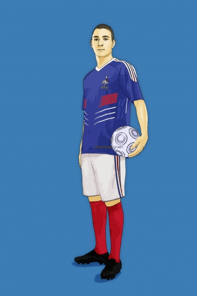Photo Cartoon of Karim Benzema