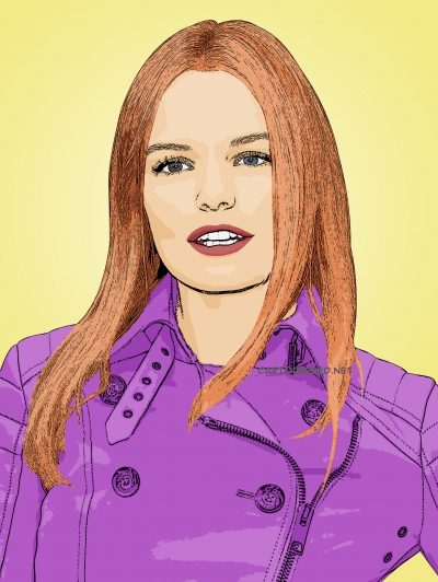 Cartoon photo of Kate Bosworth