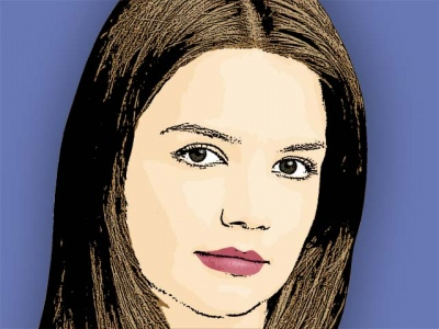 Photo Cartoon of Katie Holmes