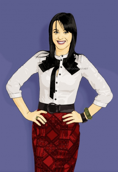 cartoon photo of katy perry by cartoonized.net