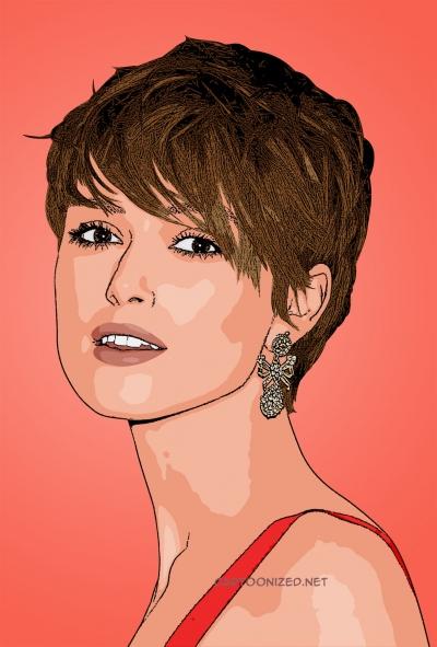 Photo cartoon of Keira Knightley