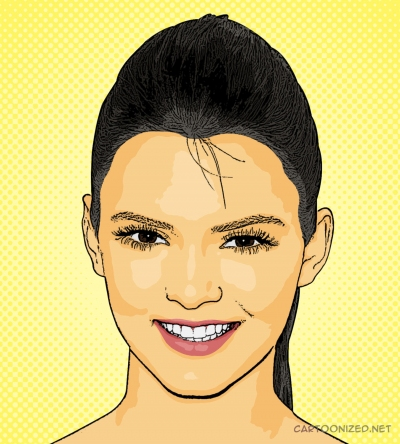 cartoon photo of Kendall Jenner by cartoonized.net