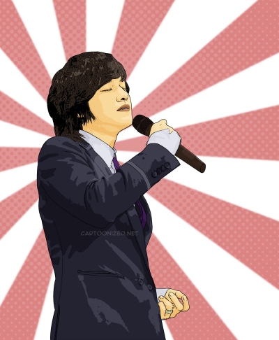 Photo Cartoon of Kim Bum