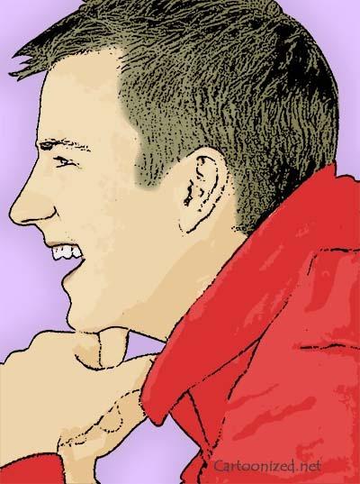 Photo Cartoon of Kimi Raikkonen