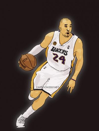 Photo Cartoon of Kobe Bryant