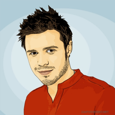 Photo Cartoon of Kris Allen