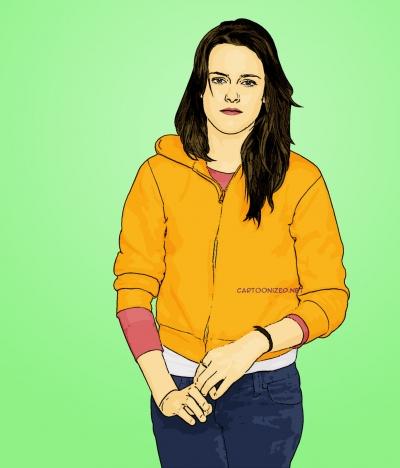 Photo Cartoon of Kristen Stewart
